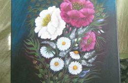 Bukiet kolorowy - malarstwo akrylowe