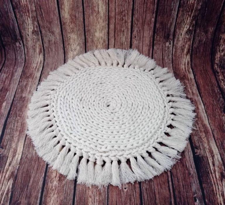 Podkładka na stó,boho,okrągła podkładka,30cm.