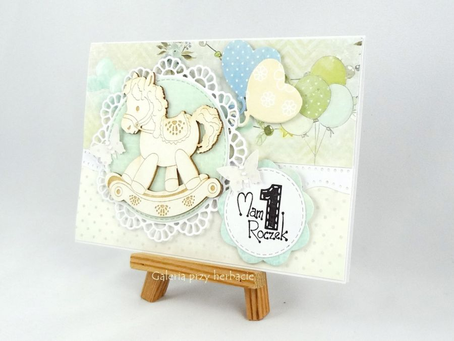 Kartka na roczek B3 - urodziny dla dziecka