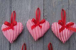 Ozdoby na choinkę serce 3 szt