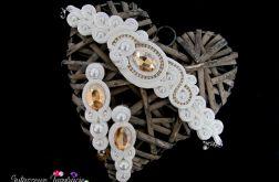 Biżuteria ślubna ivory, śmietankowa biel
