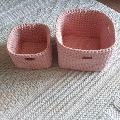 Koszyki ze sznurka komplet dla dziecka