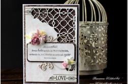 Ażurowy narożnik- ślubna karta #1