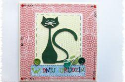 Kartka urodzinowa z kotem