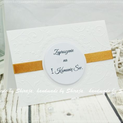 Simple Beauty 3- zaproszenia na Komunię Św.