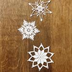 śnieżynka gwiazdka ozdoba choinkowa 3
