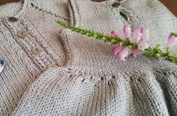elegancki komplet sukienka i sweterek 18 m-cy