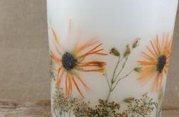 świece FLORA -z naturalnymi roślinami #4