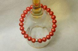 154. Bransoleta z pereł szklanych 8mm