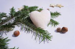 Zawieszka serce z tkaniny bawełnianej