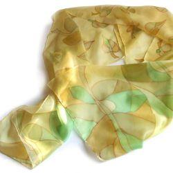 Jesienne liście - jedwabny szal