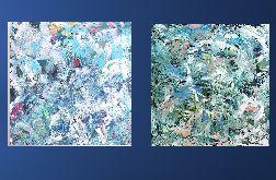 Zestaw obrazów ręcznie malowanych 70x70