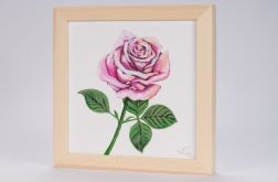 Róża - obraz malowany na płótnie lnianym