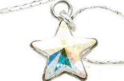Srebrny łańcuszek gwiazda Swarovski Cr AB