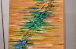 Duży obraz - abstrakcja, płótno malarskie