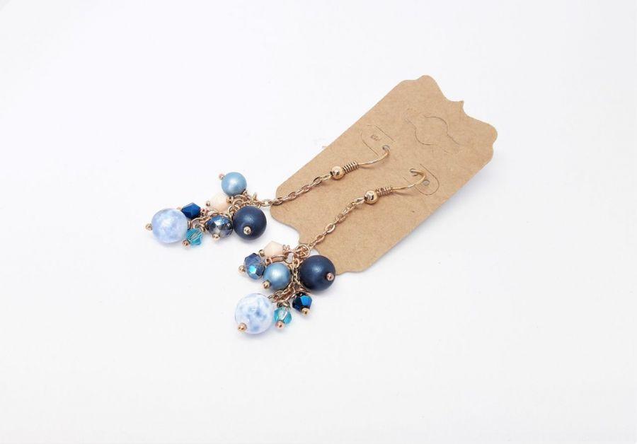 Kolczyki z serii Natura grona - 9 - Kolczyki handmade z kamieni na prezent