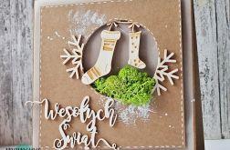 Kartka świąteczna w stylu eko