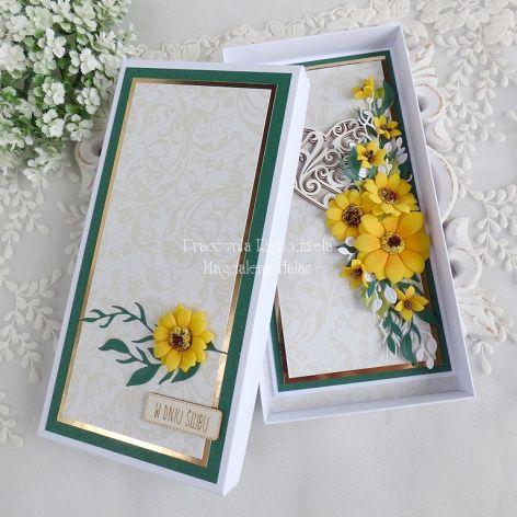 Ślubna kartka w pudełku 435