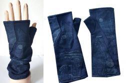 Rękawiczki mitenki z łatkami