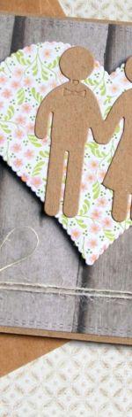 kartka ślubna :: ludziki :: pink meadow