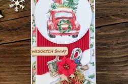 Kartka świąteczna z autem #33
