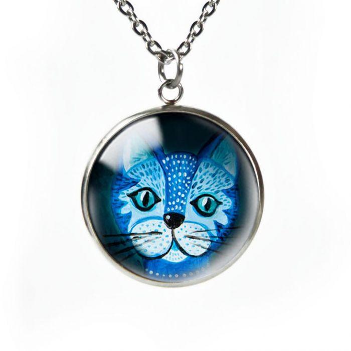 BLUE CAT naszyjnik z ilustracją