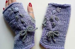 rękawiczki mitenki fiolet 2