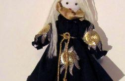 aniołek w granatowej złoto srebrnej szacie