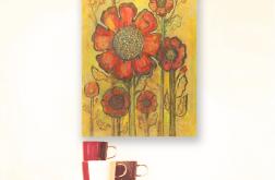 Rysunek kwiaty nr 26 - grafika do pokoju