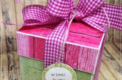 Ślubne pudełko-zieleń i róż