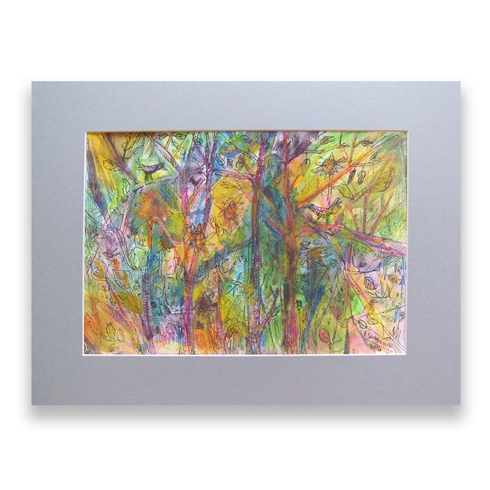 Dziki ogród nr 4 -  kolorowy rysunek