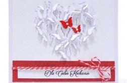 Kartka dla kochanej osoby serce z motyli