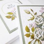 Kartka URODZINOWA z bukietem róż - Kartka z okazji urodzin z różami