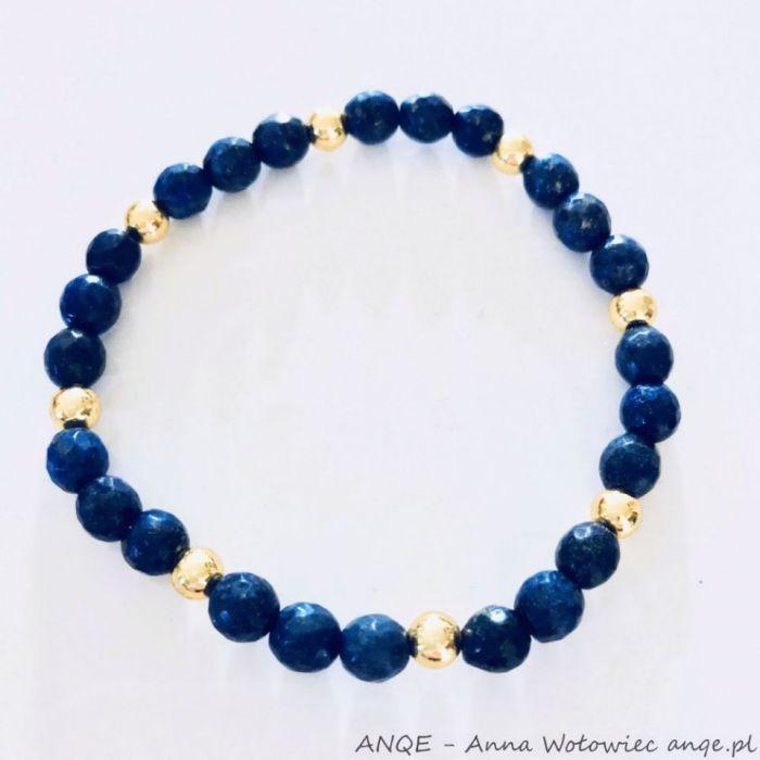 Bransoletka Lapis Lazuli fasetka model 2
