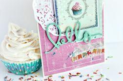 Hello cupcake / kartka okolicznościowa