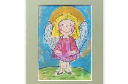 Aniołek obrazek malowany nr 8