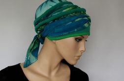 letni turban TURKUSOWY