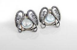 Kolczyki srebrne z błękitnym topazem