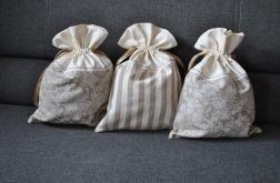 3 worki na bieliznę w odcieniach lnu