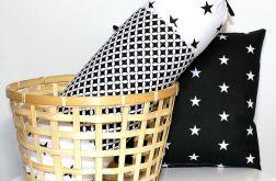 Poduszka wałek 50/15 cm black&white