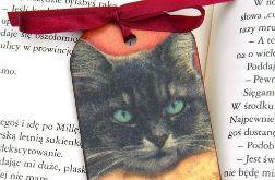 Zakładka czarny kot, prezent z kotem