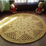 Dywan Słoneczko, 105 cm - dywan szydełkowy