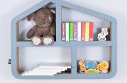 Półka na książki zabawki DOMEK | szary