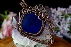 Lapis lazuli, Miedziany wisior z lapisem