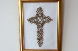 """frywolitkowy obraz """"Krzyż"""""""