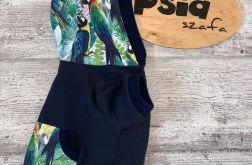 Bluza dla psa z kapturem Papugi rozmiar S