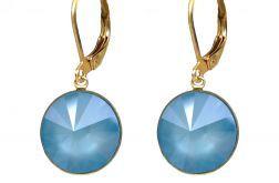 Kolczyki z niebieskimi kryształami Swarovskiego