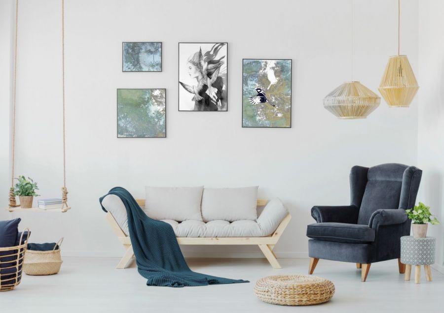 Ptaki I, plakat sygnowany, B2 70x50 cm - Stwórz własną kolekcję unikalnych plakatów