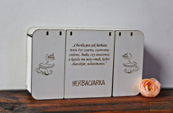 HERBACIARKA białe pudełko na herbatę pojemnik