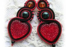 Serca na Walentynki - kolczyki sutasz